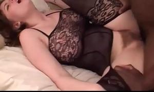 Busty Brunette Teen Hooks Wide &amp_ Fucks A Big Black Cock