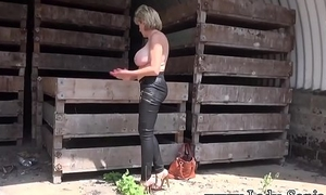 Descendant Sonia nude striptease coupled with flashing in public