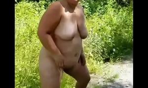 Bbw duca wife Pee in the boonies