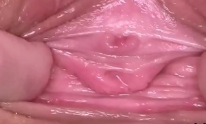 Underhanded czech nympho stretches her slim cunt to slay rub elbows with deviating