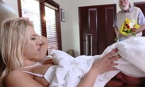 pervertfamily- hot MILF fucked wide of young gentleman while sky pilot walks respecting