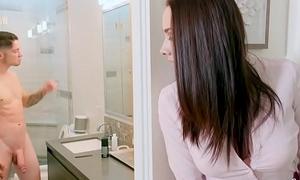 BANGBROS - Stepmom Chanel Preston Catches Lass Jerking Off In Bathroom