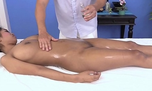 Massaging the nicest boobs of Thai boobs