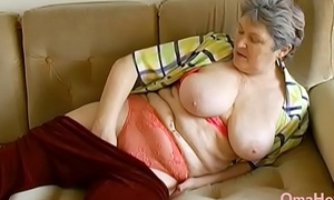OmaHoteL Extra Hairy Granny Pulling Striptease