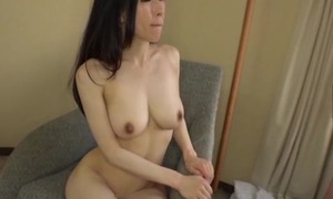 Asian japanese av idol being fucked in hardcore sex movie, man in costume is wipe the floor with her pussy and cums greater than her tits